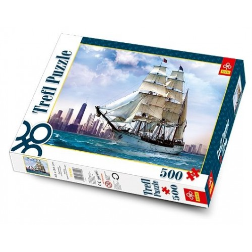 PUZZLE 500 ZAGLOWIEC NA TLE CHICAGO